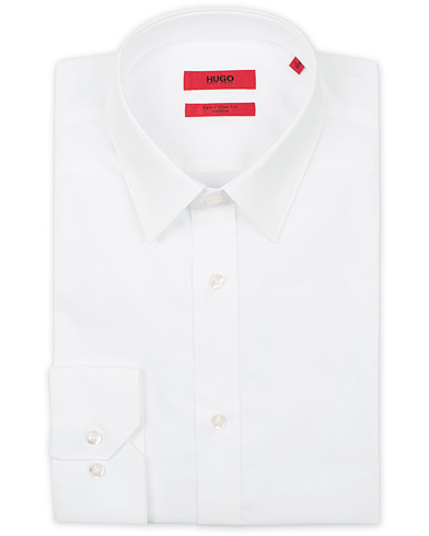 HUGO Elisha Slim Fit Shirt Open White i gruppen Kläder / Skjortor hos Care of Carl (12294811r)