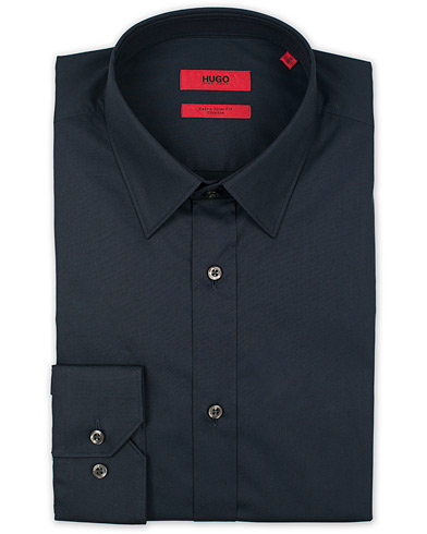 HUGO Elisha Slim Fit Shirt Open Blue i gruppen Skjortor / Formella skjortor hos Care of Carl (12294911r)