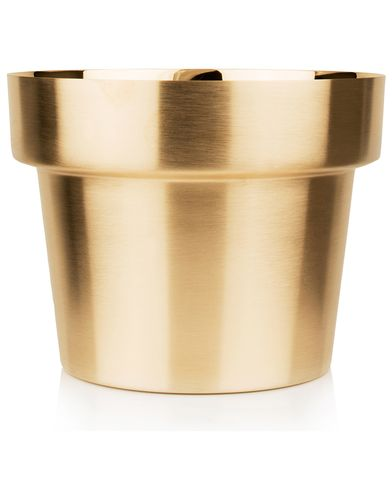 Skultuna Flower Pot Brushed Brass i gruppen Assesoarer / Livsstil / Til hjemmet hos Care of Carl (12299111r)