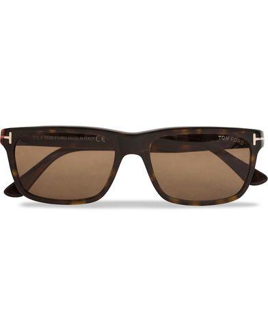 Tom Ford Hugh FT0337 Sunglasses Havana  i gruppen Accessoarer / Solglasögon / Fyrkantiga solglasögon hos Care of Carl (12307710)