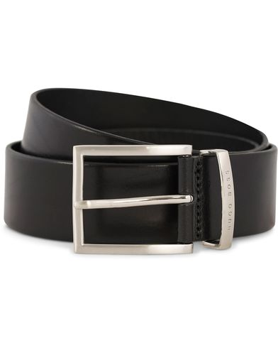 BOSS Buddy Leather Jeans Belt 4 cm Black i gruppen Accessoarer / Bälten / Släta bälten hos Care of Carl (12309911r)