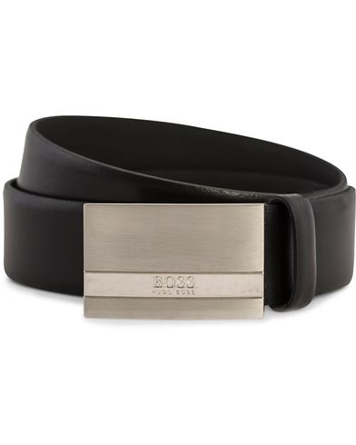 BOSS Baxton Plaited Logo Belt 3,5 cm Black i gruppen Assesoarer hos Care of Carl (12310111r)