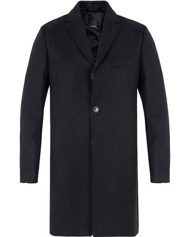 J.Lindeberg Wolger Compact Melton Coat Black i gruppen Klær / Jakker / Vinterjakker hos Care of Carl (12312111r)