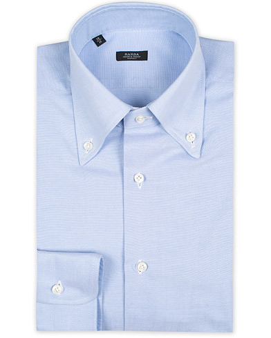 Barba Napoli Slim Fit Button Down Oxford Shirt Blue i gruppen Design A / Skjorter hos Care of Carl (12313311r)