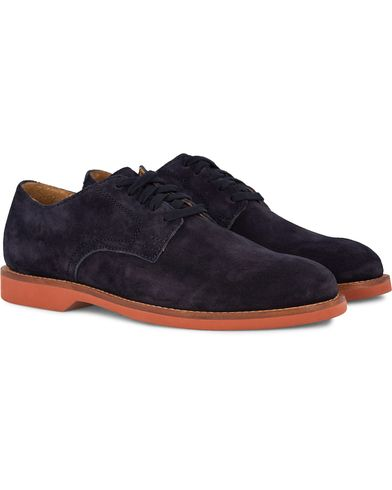 Polo Ralph Lauren Cartland Derby Suede Navy  i gruppen Sko / Derbys hos Care of Carl (12400111r)