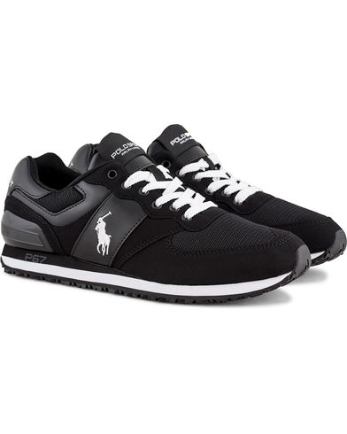 Polo Ralph Lauren Slaton Pony Running Sneaker Black/White i gruppen Sko / Sneakers / Running sneakers hos Care of Carl (12402611r)