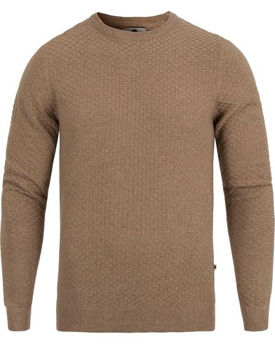 NN07 Albert Cotton Sweater Nature Melange i gruppen Tröjor / Stickade tröjor hos Care of Carl (12405111r)