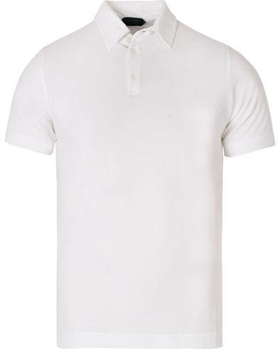 Zanone Ice Cotton Polo White i gruppen Kläder / Pikéer / Kortärmade pikéer hos Care of Carl (12405711r)