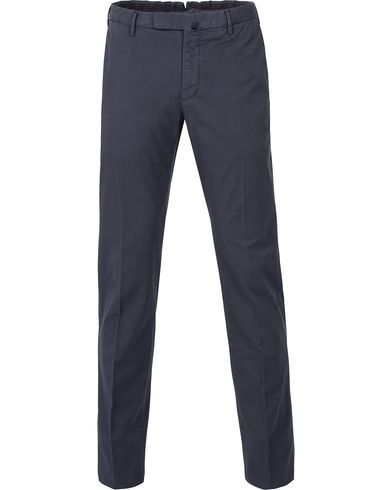 Incotex Slim Fit Stretch Chinos Navy i gruppen Kläder / Byxor / Chinos hos Care of Carl (12406311r)