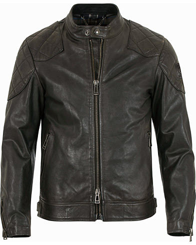 Belstaff Outlaw Leather Jacket Black i gruppen Jackor / Skinnjackor hos Care of Carl (12408311r)