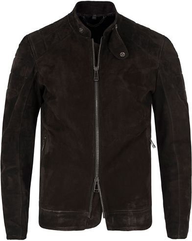 Belstaff Leamington Suede Jacket Black i gruppen Jakker / Skinnjakker hos Care of Carl (12408611r)