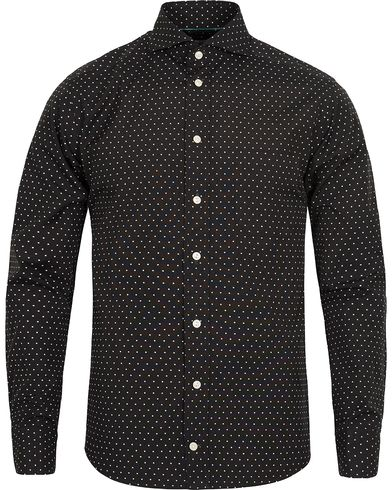Eton Slim Fit Green Ribbon Dot Shirt Black i gruppen Skjorter / Casual skjorter hos Care of Carl (12415211r)