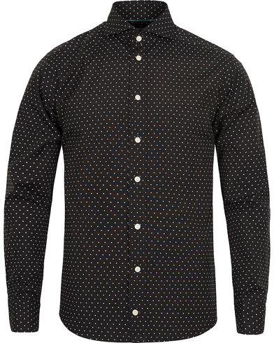 Eton Slim Fit Green Ribbon Dot Shirt Black i gruppen Kläder / Skjortor / Casual skjortor hos Care of Carl (12415211r)