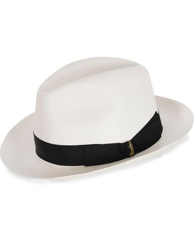 Borsalino Panama Fine With Medium Brim White  i gruppen Accessoarer / Hattar hos Care of Carl (12418211r)