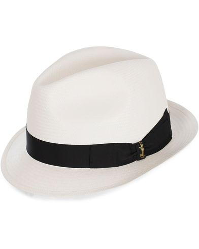 Borsalino Panama Fine With Small Brim White  i gruppen Assesoarer / Hatter hos Care of Carl (12418311r)
