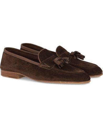 Edward Green Portland I Tassel Travel Slipper Brown i gruppen Skor / Loafers hos Care of Carl (12422011r)