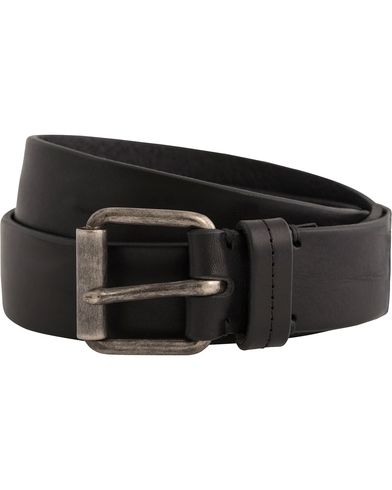 Tiger of Sweden Guido Leather Belt 3,5 cm Black i gruppen Accessoarer / Bälten / Släta bälten hos Care of Carl (12425511r)
