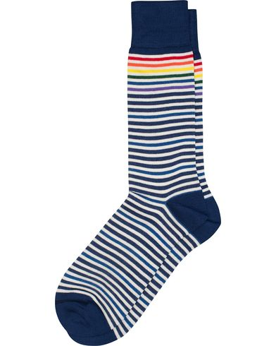 Paul Smith  Multi Stripe Sock Blue/Navy  i gruppen Underkläder / Strumpor hos Care of Carl (12438110)