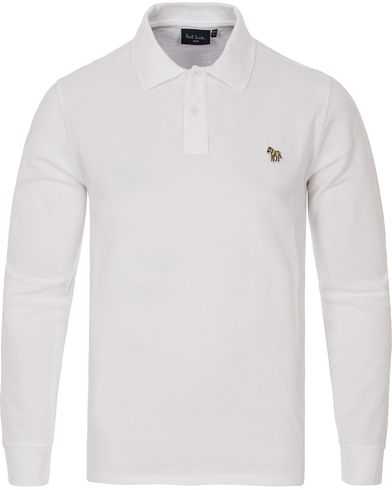 PS by Paul Smith Logo Polo White i gruppen Pikéer / Langermet piké hos Care of Carl (12439411r)