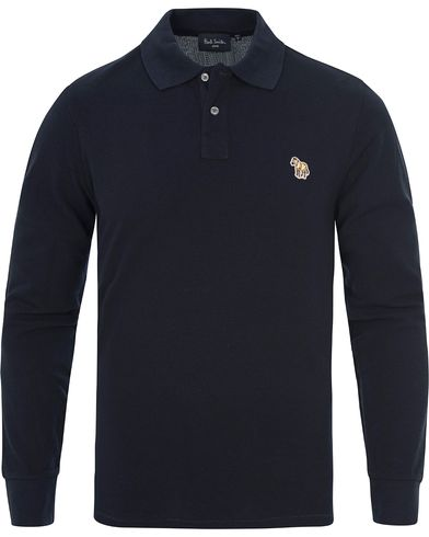 PS by Paul Smith Logo Polo Navy i gruppen Pikéer / Långärmade pikéer hos Care of Carl (12439511r)