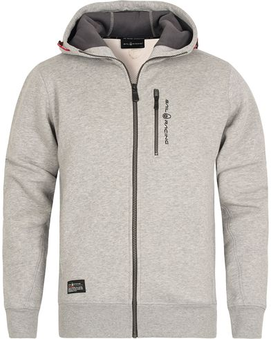 Sail Racing SR Zip Hood Grey Melange i gruppen Kläder / Tröjor / Huvtröjor hos Care of Carl (12447811r)