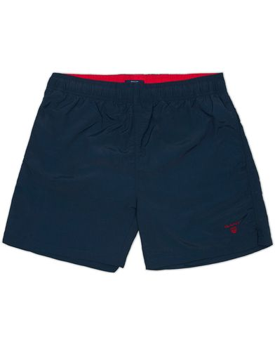GANT Solid Swim Boxer Navy i gruppen Klær / Badeshorts hos Care of Carl (12454311r)