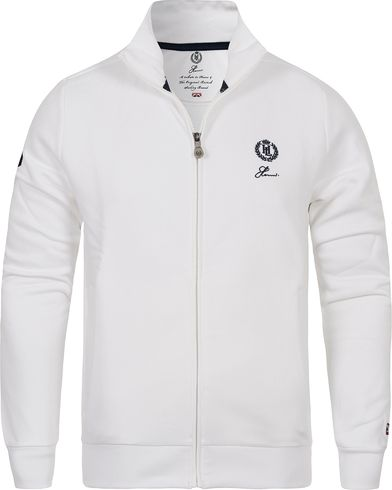 Henri Lloyd The Henri Full Zip Sweat Bright White i gruppen Kläder / Tröjor / Zip-tröjor hos Care of Carl (12458611r)