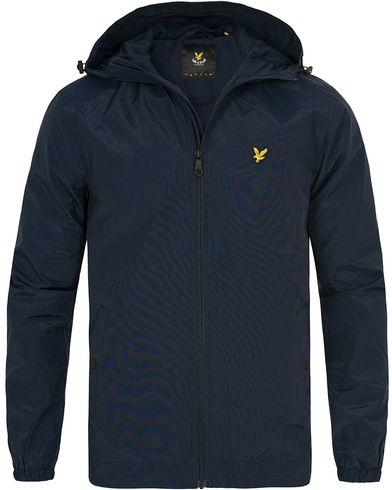 Lyle & Scott Zip Through Hooded Jacket  Navy i gruppen Jakker / Tynne jakker hos Care of Carl (12467711r)