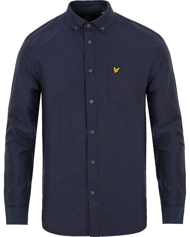 Lyle & Scott Oxford Shirt Navy i gruppen Skjorter / Oxfordskjorter hos Care of Carl (12470011r)