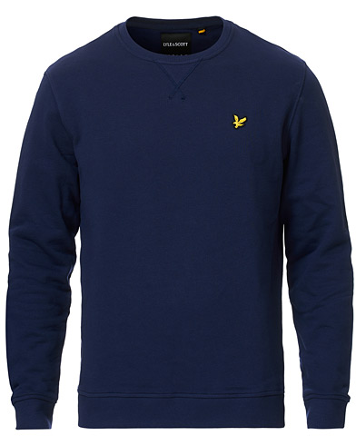 Lyle & Scott Crew Neck Sweatshirt Navy i gruppen Tröjor / Sweatshirts hos Care of Carl (12472611r)