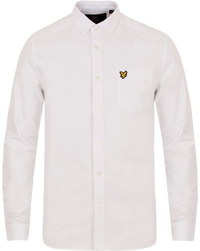 Lyle & Scott Oxford Shirt White i gruppen Skjorter / Oxfordskjorter hos Care of Carl (12472811r)