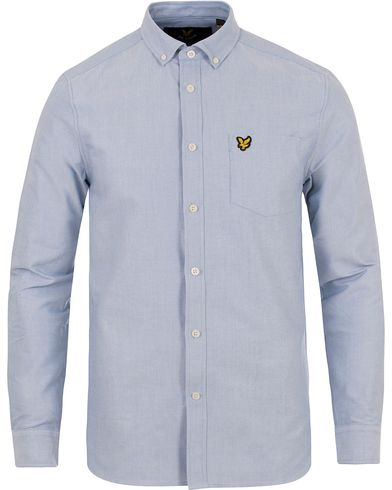 Lyle & Scott Oxford Shirt Riviera Blue i gruppen Skjortor / Oxfordskjortor hos Care of Carl (12472911r)