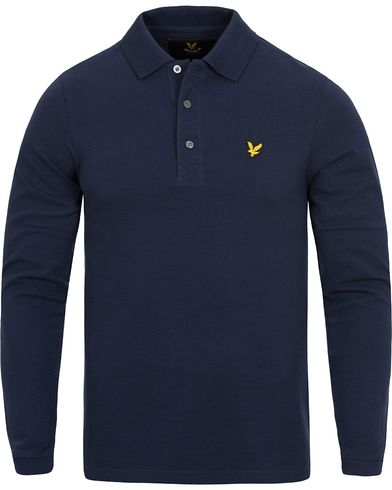 Lyle & Scott LS Polo Shirt Navy i gruppen Pik�er / Langermet Pik� hos Care of Carl (12473311r)