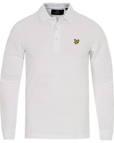 Lyle & Scott LS Polo Shirt White i gruppen Pikéer / Långärmade pikéer hos Care of Carl (12473411r)