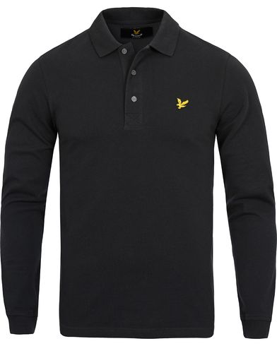 Lyle & Scott LS Polo Shirt True Black i gruppen Pikéer / Långärmade pikéer hos Care of Carl (12473511r)
