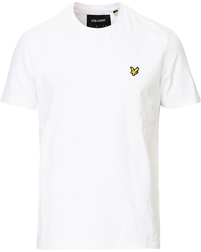 Lyle & Scott Plain Crew Neck Cotton T-Shirt White i gruppen Kläder / T-Shirts hos Care of Carl (12473711r)