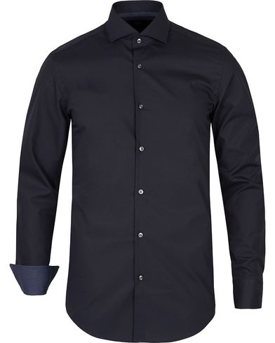 BOSS Jery Slim Fit Contrast Shirt Dark Blue i gruppen Skjorter / Formelle skjorter hos Care of Carl (12480611r)