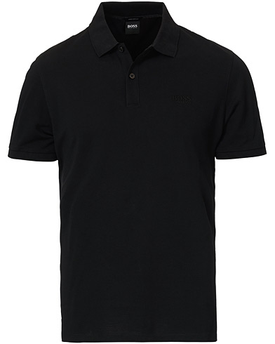 BOSS Pallas Polo Black i gruppen Pikéer / Kortärmade pikéer hos Care of Carl (12485511r)