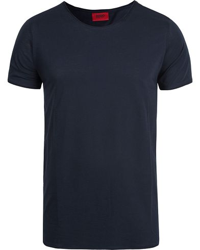 HUGO Depus Roll Edge T-shirt Dark Blue i gruppen T-Shirts / Kortärmade t-shirts hos Care of Carl (12493811r)