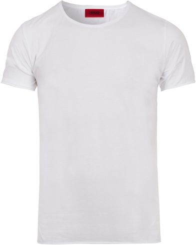 HUGO Depus Roll Edge T-shirt White i gruppen Klær / T-Shirts / Kortermede t-shirts hos Care of Carl (12494011r)