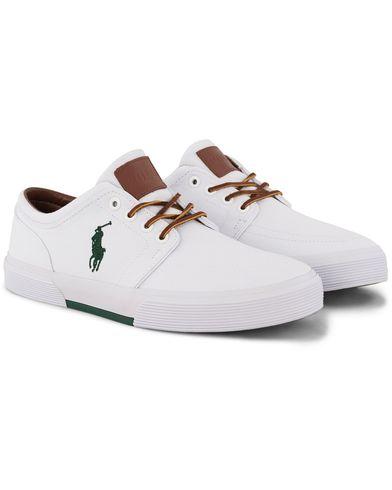 Polo Ralph Lauren Faxon Canvas Sneaker White i gruppen Skor / Sneakers hos Care of Carl (12494511r)