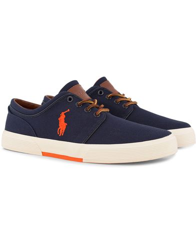 Polo Ralph Lauren Faxon Canvas Sneaker Navy i gruppen Skor / Sneakers / Låga sneakers hos Care of Carl (12494611r)