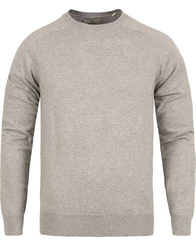 GANT Diamond G Cotton Cashmere Crew Light Grey Melange i gruppen Kläder / Tröjor / Pullovers / Rundhalsade pullovers hos Care of Carl (12497911r)
