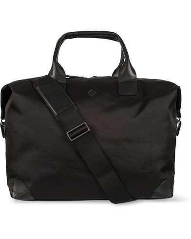 GANT Diamond G Nylon Leather Holdall Black  i gruppen Assesoarer / Vesker / Weekendbager hos Care of Carl (12500110)