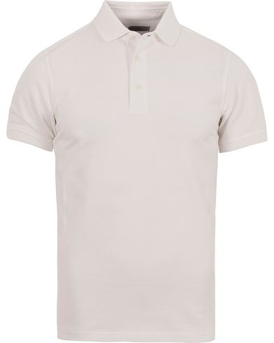 Gant Diamond G Solid Pique Polo White i gruppen Pikéer / Kortärmade pikéer hos Care of Carl (12500611r)