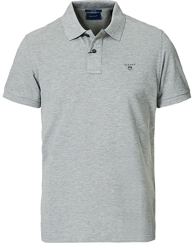 Gant The Original Polo Grey Melange i gruppen Pikéer / Kortärmade pikéer hos Care of Carl (12507011r)