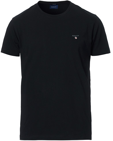 Gant The Original Solid Tee Black i gruppen T-Shirts / Kortärmade t-shirts hos Care of Carl (12509411r)