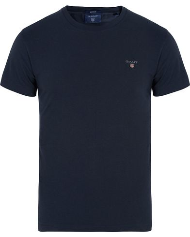 Gant The Original Solid Tee Marine i gruppen T-Shirts / Kortermede t-shirts hos Care of Carl (12509511r)