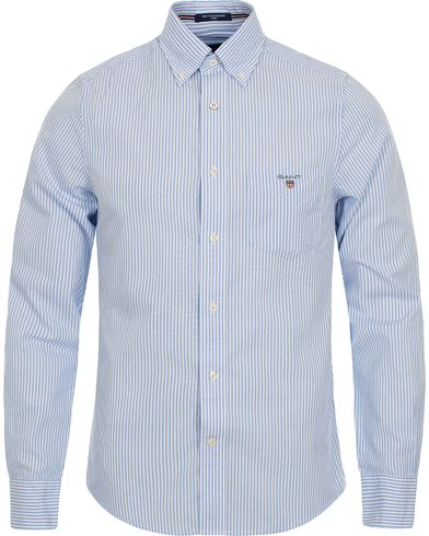 Gant The Poplin Banker Stripe Fitted Body Shirt Blue i gruppen Skjorter / Casual skjorter hos Care of Carl (12512811r)