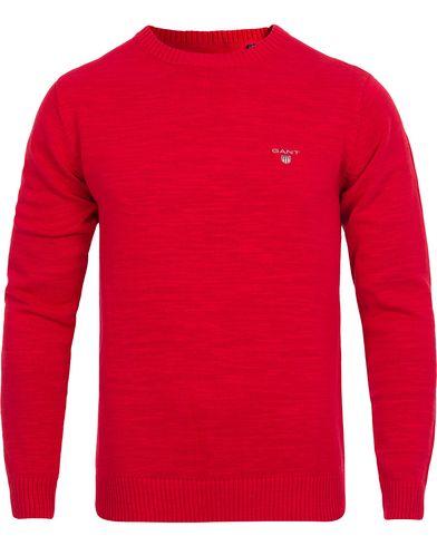 Gant Natural Cotton Crew Neck Red i gruppen Gensere / Pullover / Pullovere rund hals hos Care of Carl (12517411r)